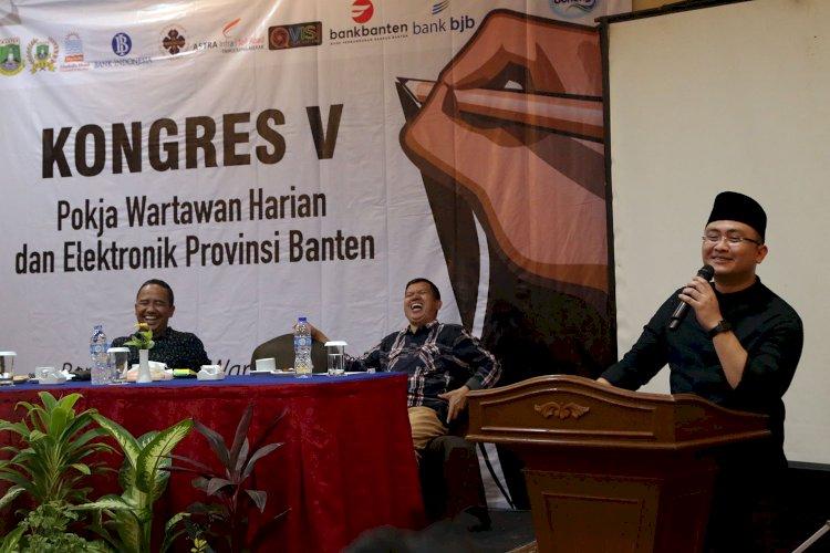 Wagub membuka Konres V Pokja wartawan Harian dan Elektronik Provinsi Banten di Hotel Marbella-Anyer.