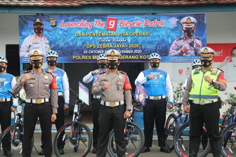 Polrestro Tangerang Bentuk Tim The 9 Bicycle Patrol