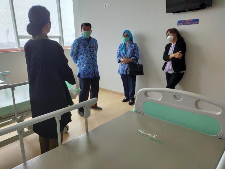 Sekda Cek Penambahan Ketersediaan Faskes Pasien Covid di RS Mentari