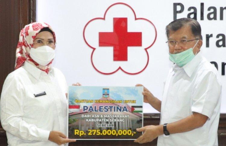 Pemkab Serang Serahkan Donasi untuk Palestina Via PMI