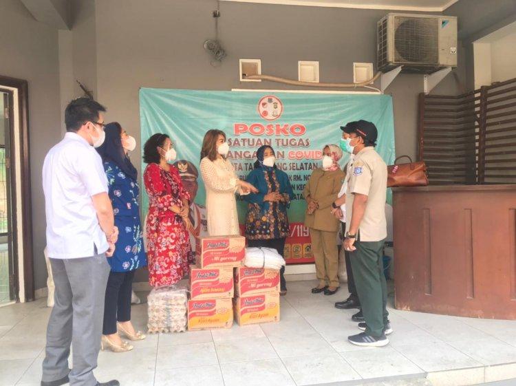 Tim Fasilitasi CSR Tangerang Selatan Serahkan Bantuan ke Dinas BPBD