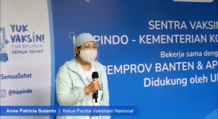 APINDO Banten Apresiasi Ketua Vaksinasi Nasional HIPPINDO Anne Patricia, Sukses V1 di Tangerang Raya