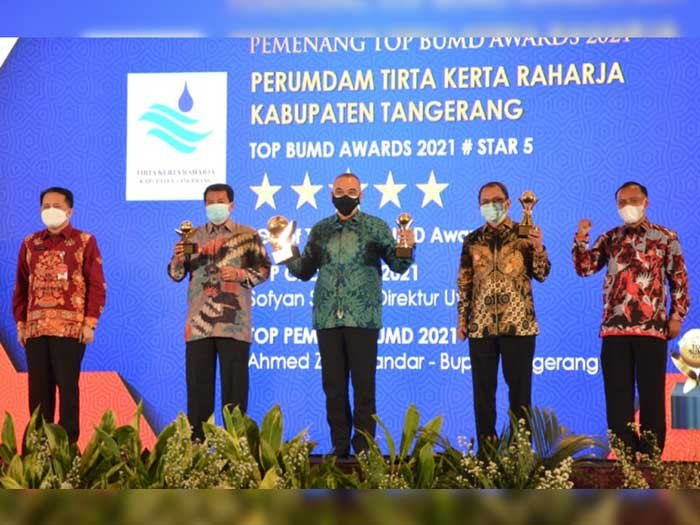 Semua Penghargaan Top BUMD Award 2021 diborong Pemkab Tangerang