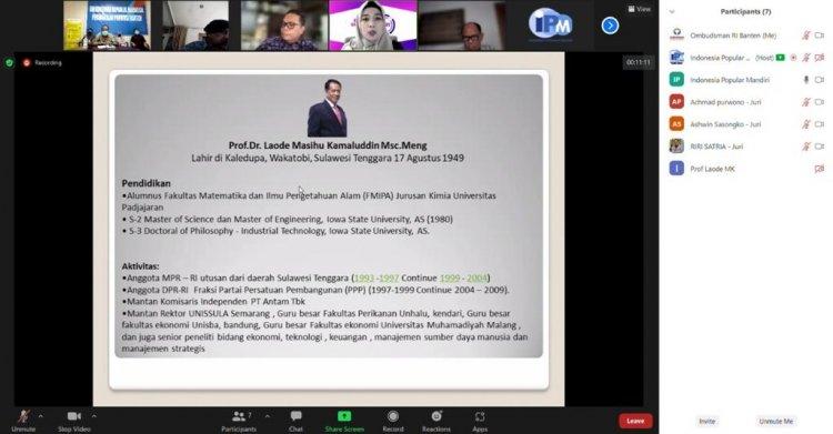 Ombudsman Banten Masuk Nominasi Digital Culture Excellence Award (DCEA) 2021