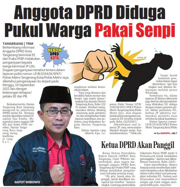 Anggota DPRD Diduga Pukul Warga Pakai Senpi