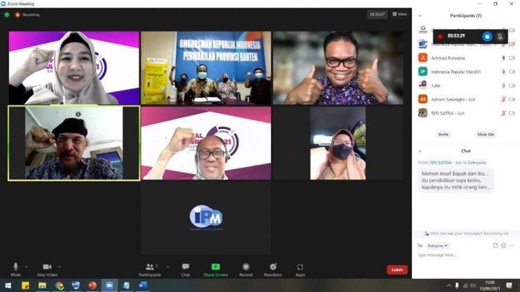 Ombudsman Banten Masuk Nominasi Digital Culture Excellence Award 2021