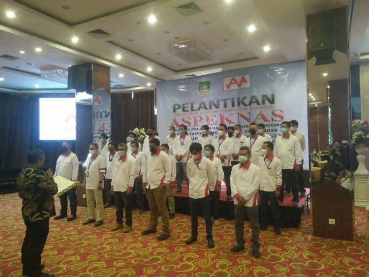 Dilantik, Aspeknas Kota Tangerang Siap Bersaing